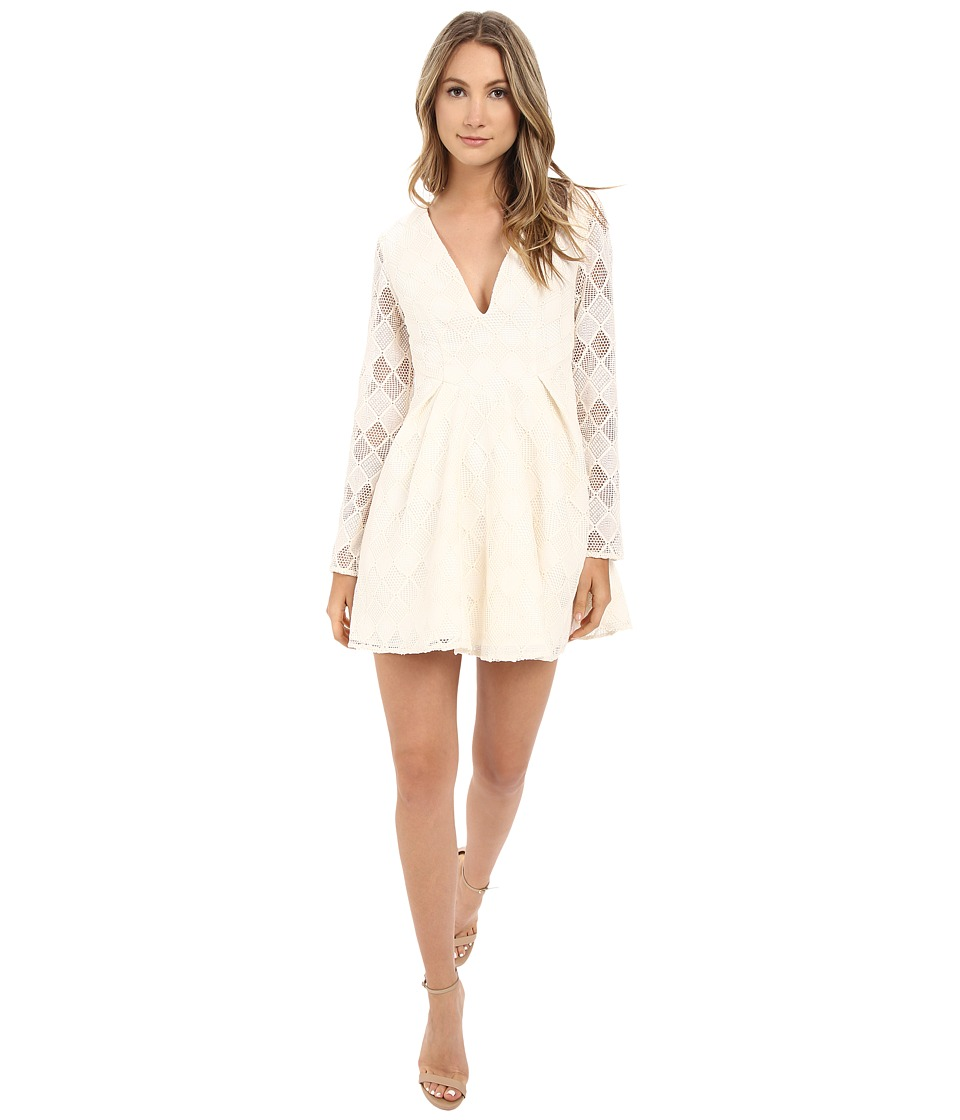 StyleStalker Empire Long Sleeve Dress Ivory Womens Dress