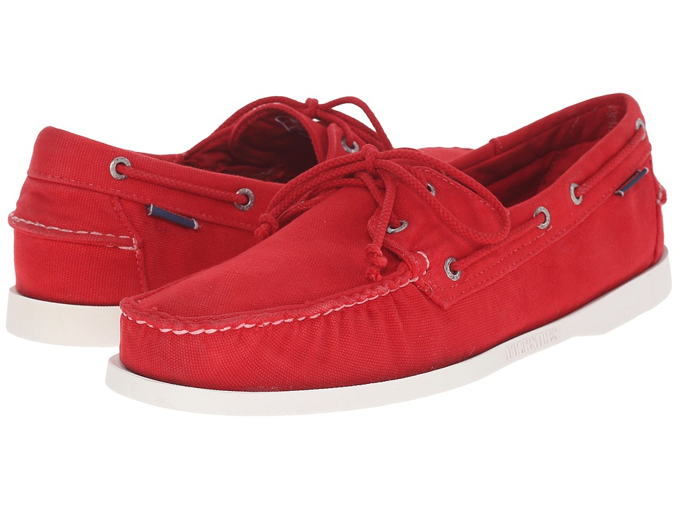 Sebago Canvas Dockside Red Canvas Mens Shoes