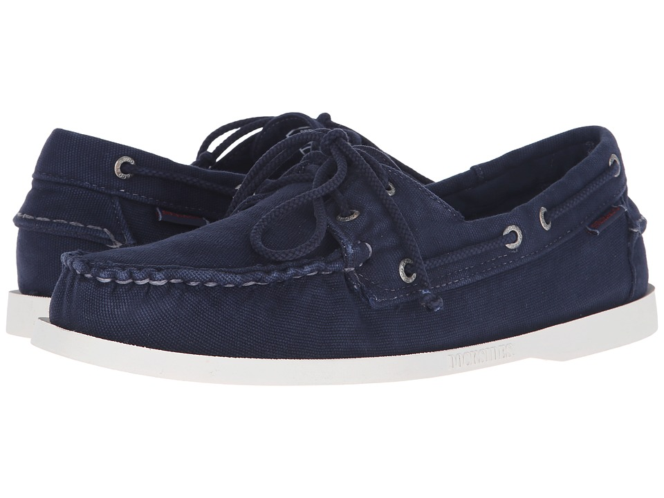 Sebago Canvas Dockside Navy Canvas Mens Shoes