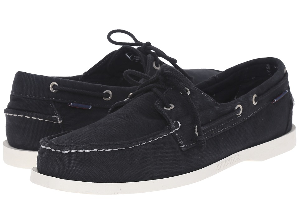 Sebago Canvas Dockside Black Canvas Mens Shoes