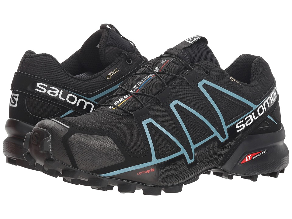 Salomon - Speedcross 4 GTX (Black/Black/Metallic Bubble Blue) Womens Shoes