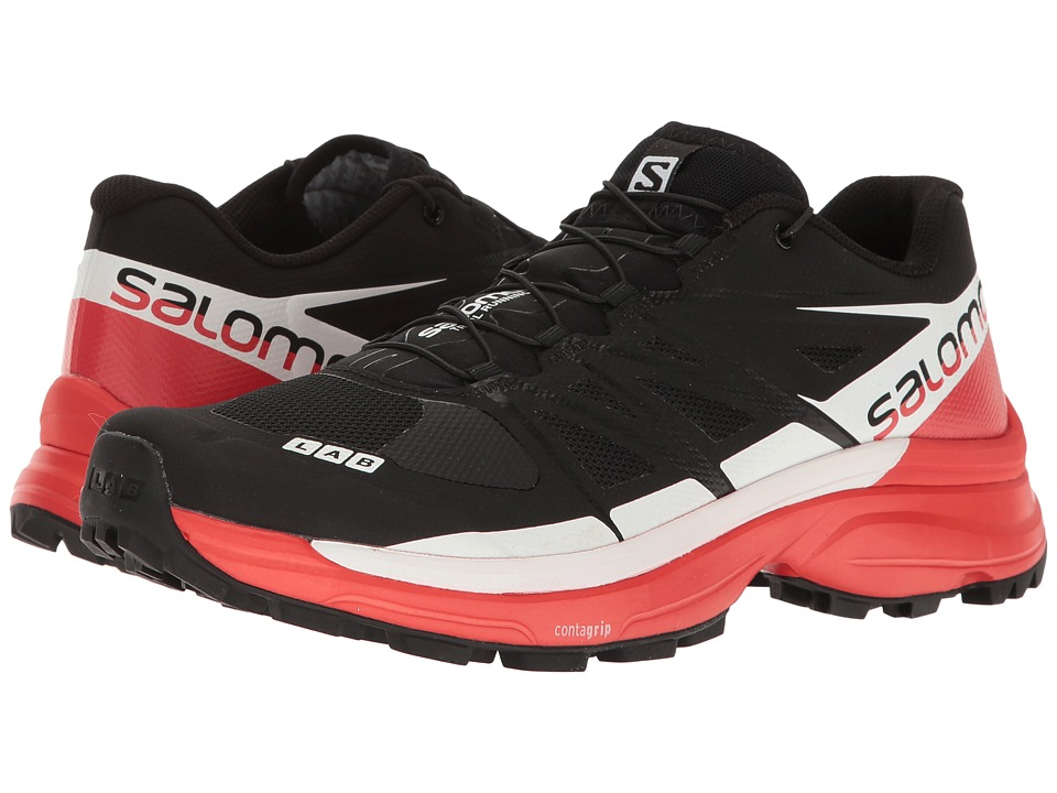 Salomon S-Lab Wings 8 SG (Black/Racing Red/White) Athletic Shoes