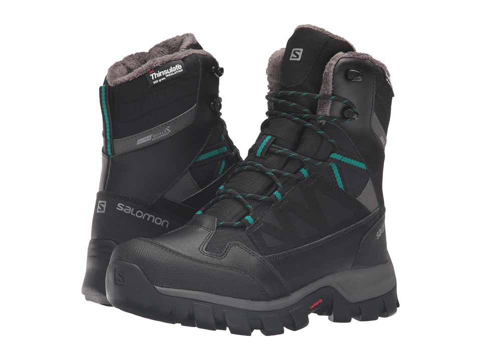 Salomon - Chalten TS CS WP (Black/Autobahn/Veridian Green) Womens Shoes