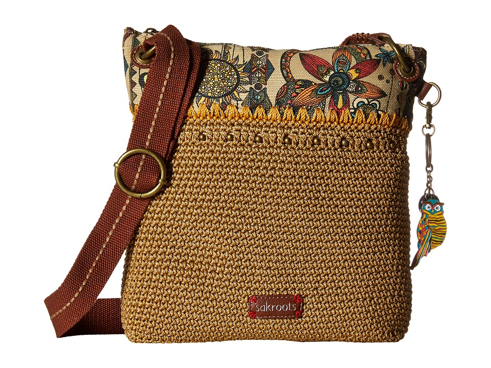 Sakroots - Artist Circle Crochet Crossbody (Camel Spirit Desert) Cross Body Handbags