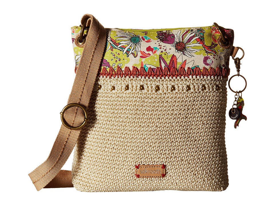 Sakroots - Artist Circle Crochet Crossbody (Citrus Xen Garden) Cross Body Handbags