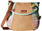 Sakroots Artist Circle Foldover Crossbody (Seafoam Flower Power Patched)