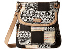 Sakroots Artist Circle Flap Crossbody (Black/White One World Patched)