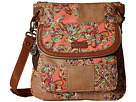 Sakroots Artist Circle Flap Crossbody (Coral Treehouse Patched)