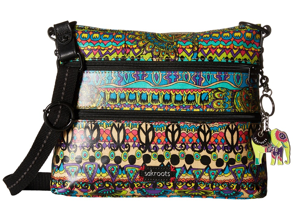 Sakroots - Artist Circle Basic Crossbody (Radiant One World) Cross Body Handbags