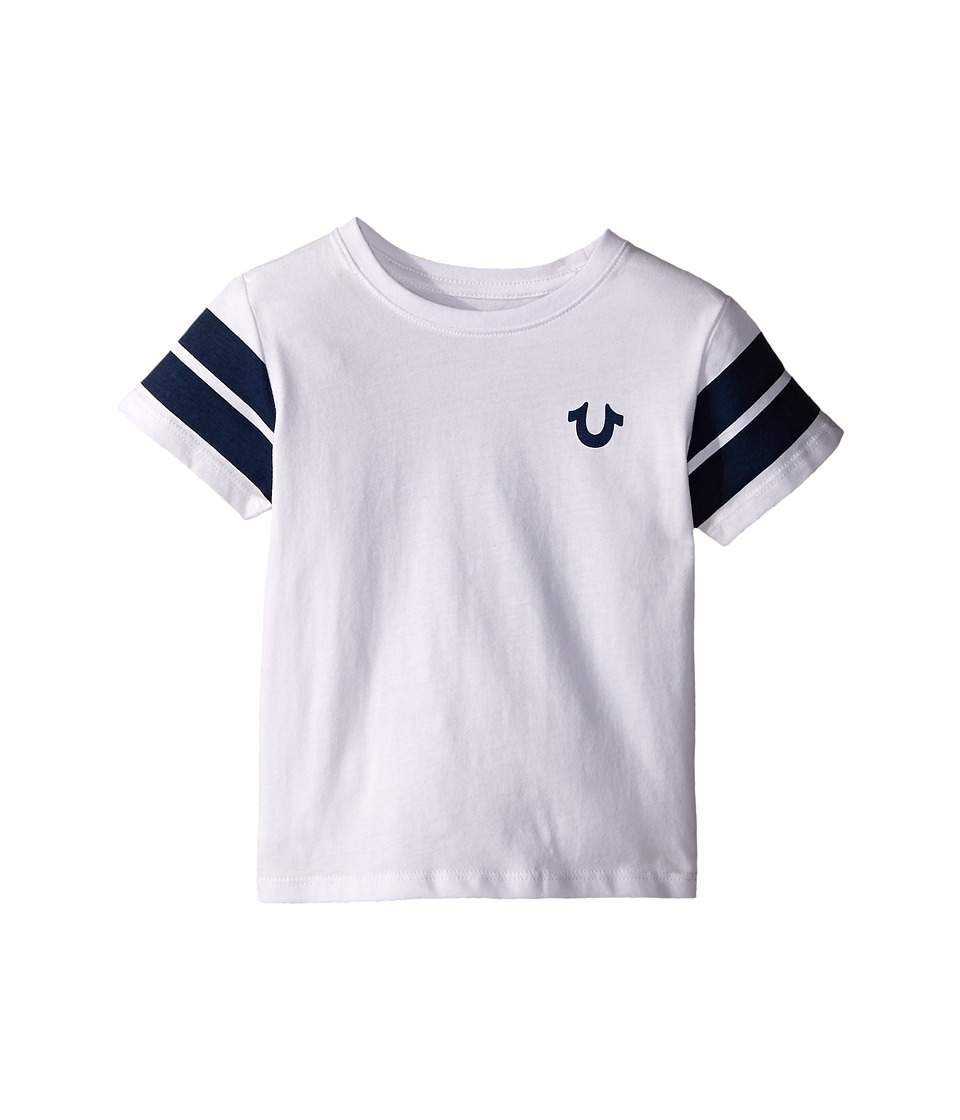 True Religion Kids Varsity Paneled Tee Shirt Toddler/Little Kids White Boys T Shirt