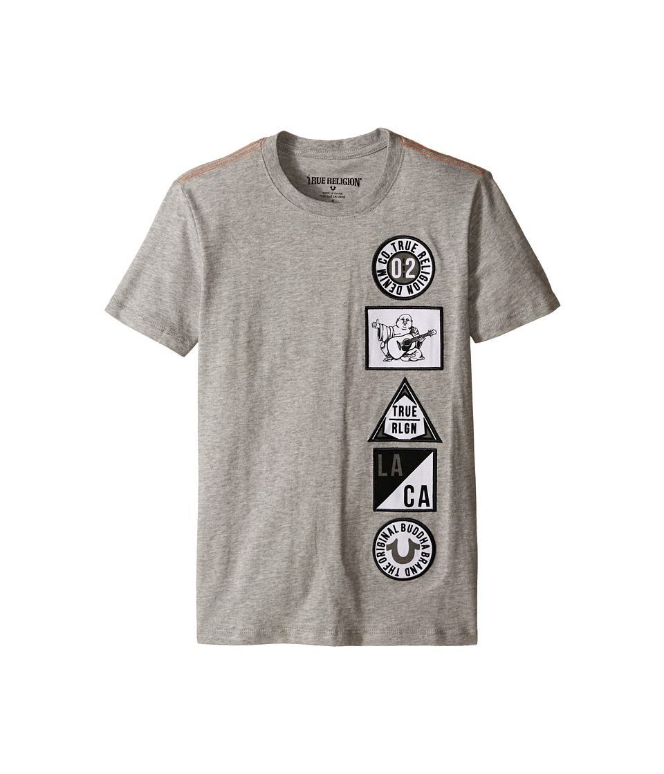 True Religion Kids Patches Tee Shirt Big Kids Heather Grey Boys T Shirt
