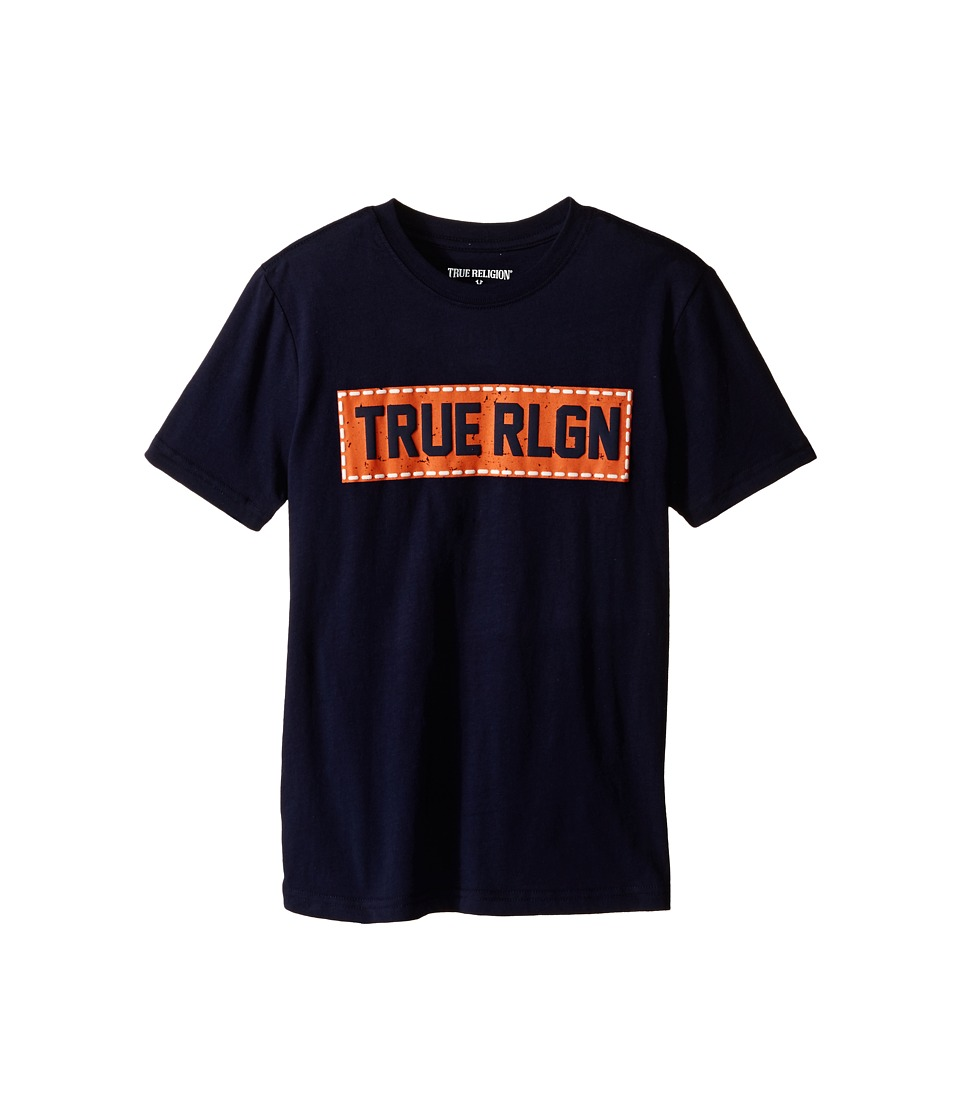 True Religion Kids Box Stitch Tee Shirt Big Kids Midnight Boys T Shirt