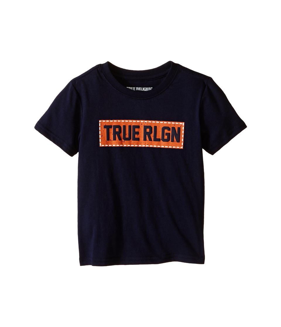 True Religion Kids Box Stitch Tee Shirt Toddler/Little Kids Midnight Boys T Shirt