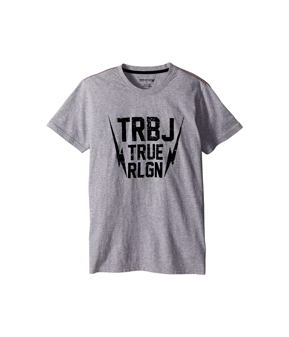 True Religion Kids Thunder Bolt Tee Shirt Big Kids Heather Grey Boys T Shirt