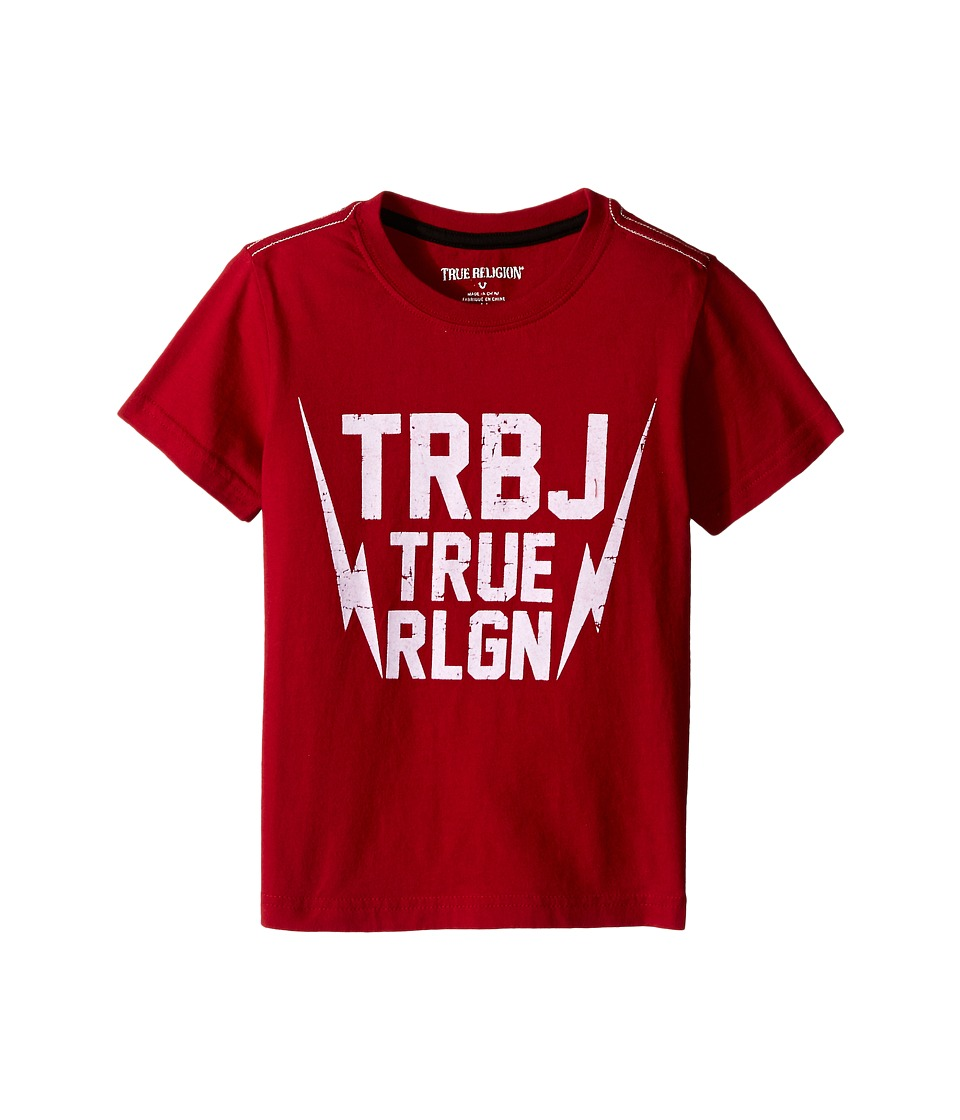 True Religion Kids Thunder Bolt Tee Shirt Toddler/Little Kids True Red Boys T Shirt