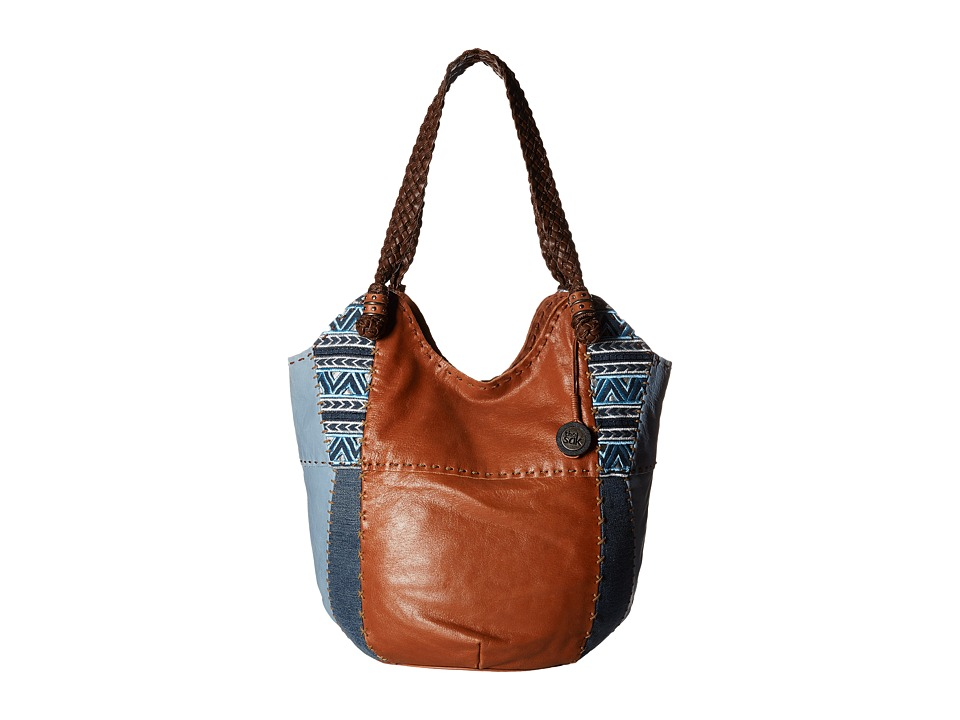 The Sak - Indio Large Tote (Blue Denim Embroidery) Shoulder Handbags