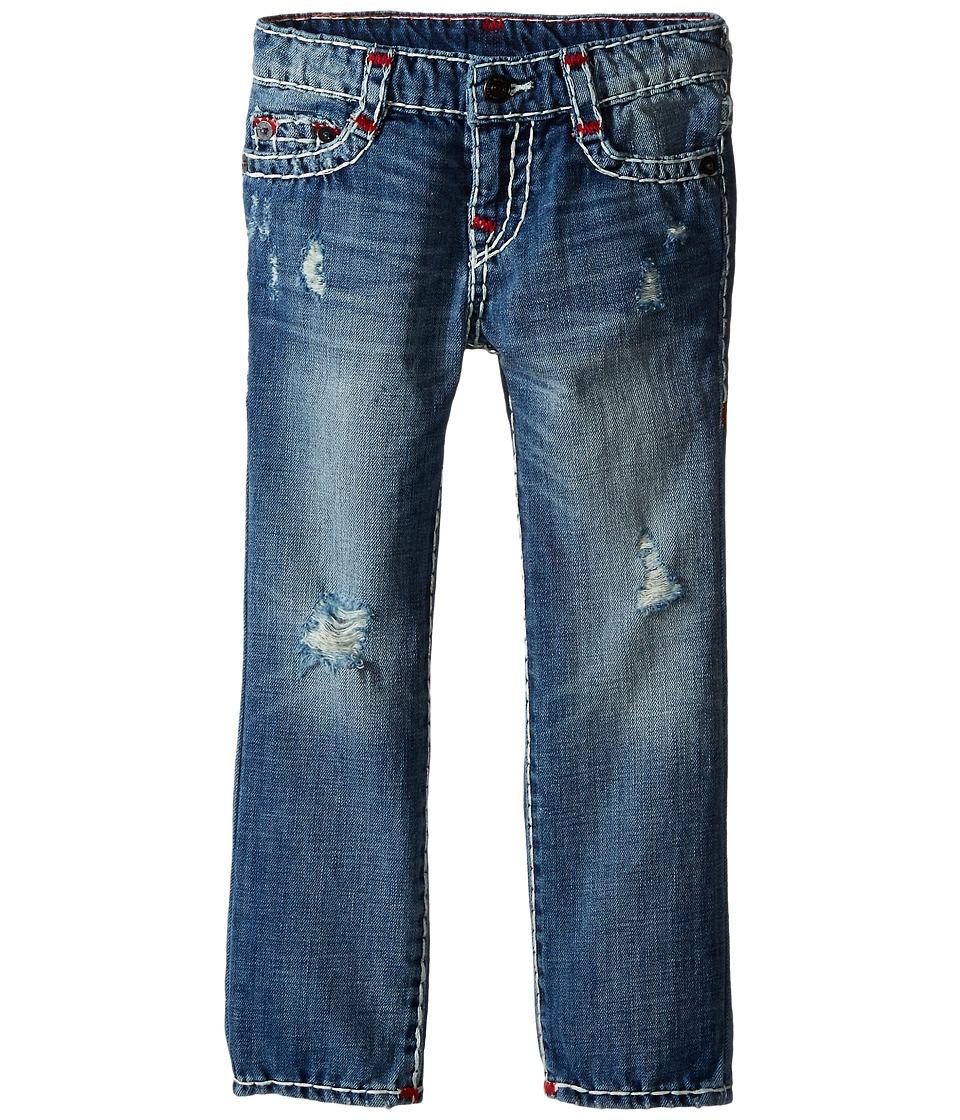 True Religion Kids Geno Color Combo Super T Jeans in Engine Wash Toddler/Little Kids Engine Wash Boys Jeans