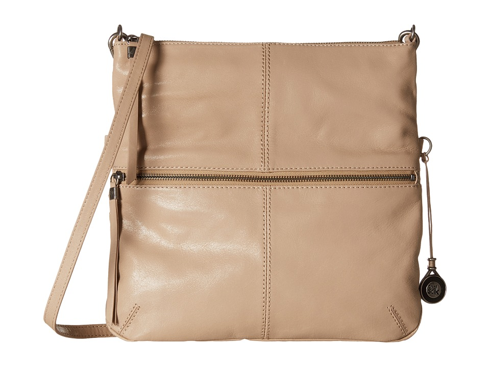 The Sak - Sanibel Foldover Crossbody (Taupe) Cross Body Handbags