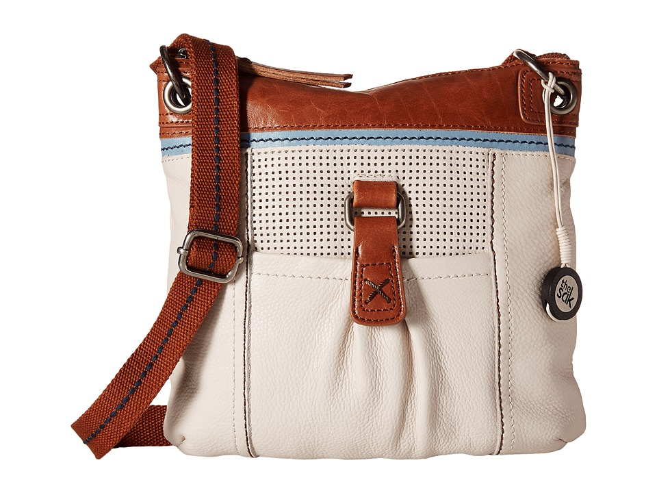 The Sak - Kendra Leather Crossbody (Stone Perf) Cross Body Handbags