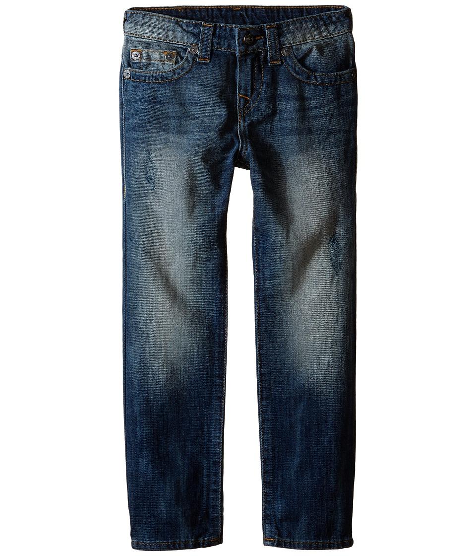 True Religion Kids Geno Single End Jeans in Beaten Blue Toddler/Little Kids Beaten Blue Boys Jeans