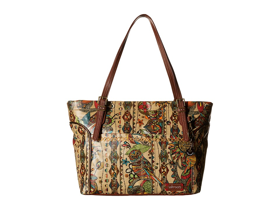 Sakroots - Artist Circle Medium Satchel (Camel Spirit Desert) Tote Handbags