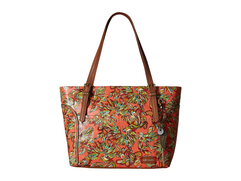 Sakroots - Artist Circle Medium Satchel (Coral Treehouse) Tote Handbags