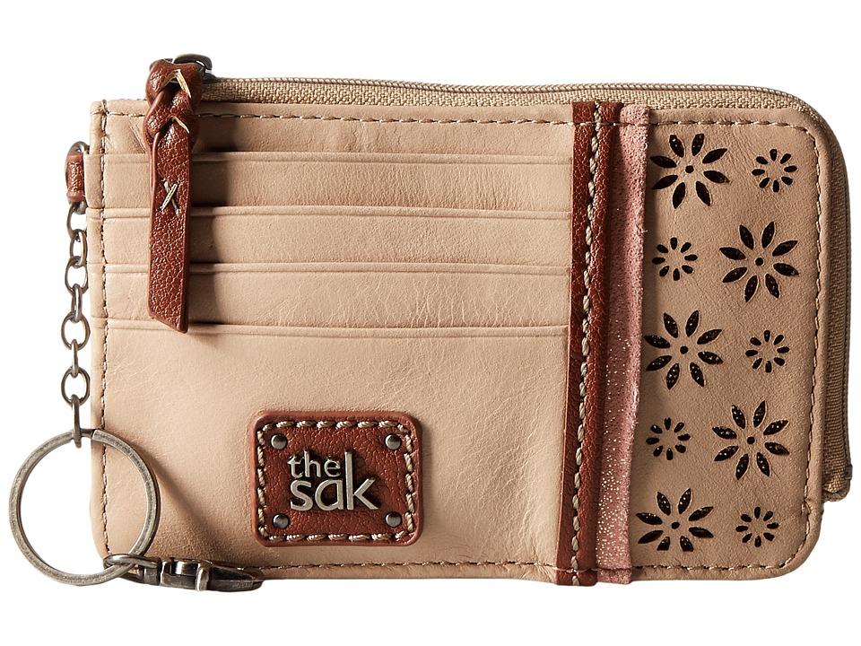 The Sak - Iris Card Wallet (Taupe Floral Perf) Wallet Handbags