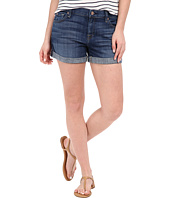 7 For All Mankind - Relaxed Mid Roll Up Shorts in Brilliant Blue Broken Twill
