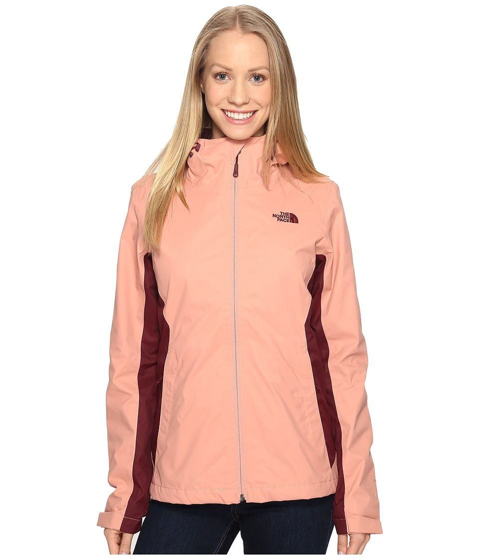 The North Face Arrowood TriClimate Jacket (Rose Dawn/Deep Garnet Red) Women