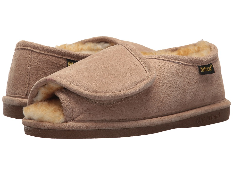 Old Friend Ladies Step-In (Chestnut W/Stony Fleece) Slippers