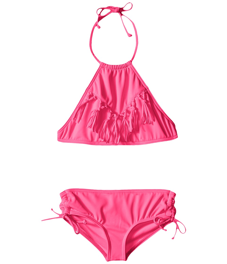 Billabong Kids Sol Searcher Halter Set Little Kids/Big Kids Pop Pink Girls Swimwear Sets