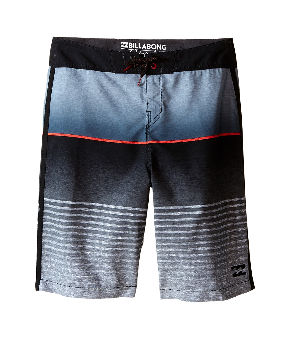 Billabong Kids All Day Faded Boardshorts Big Kids Black Boys Swimwear