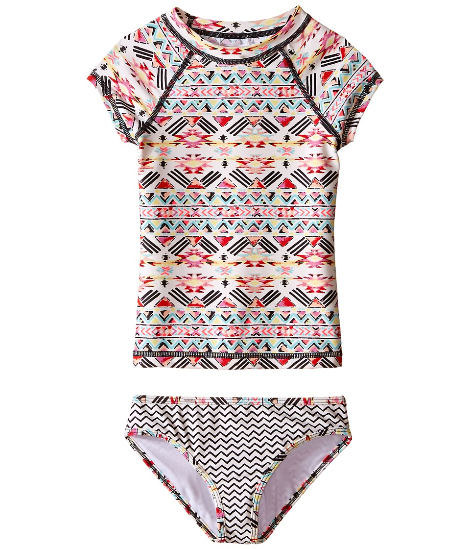 Billabong Kids Gee Gee Geo Short Sleeve Rashguard Set Little Kids/Big Kids Multi Girls Swimwear Sets