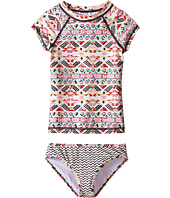 Billabong Kids - Gee Gee Geo Short Sleeve Rashguard Set (Little Kids/Big Kids)