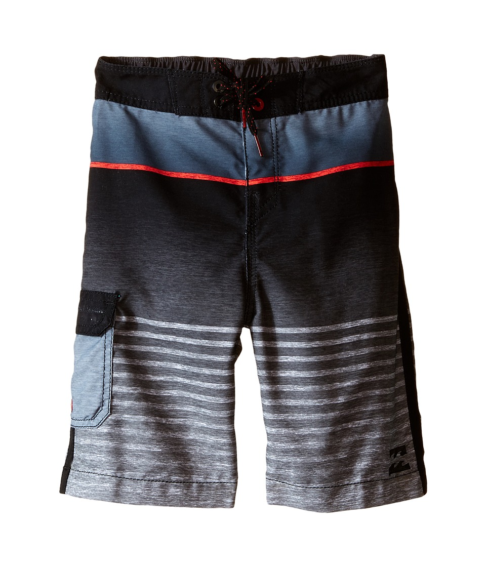 Billabong Kids All Day Faded Boardshorts Toddler/Little Kids Black Boys Swimwear