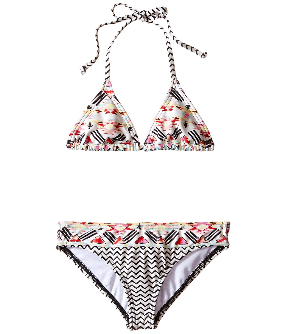 Billabong Kids Gee Gee Geo Tri Set Little Kids/Big Kids Multi Girls Swimwear Sets