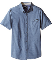 O'Neill Kids - Emporium Solid Short Sleeve Woven Top (Big Kids)