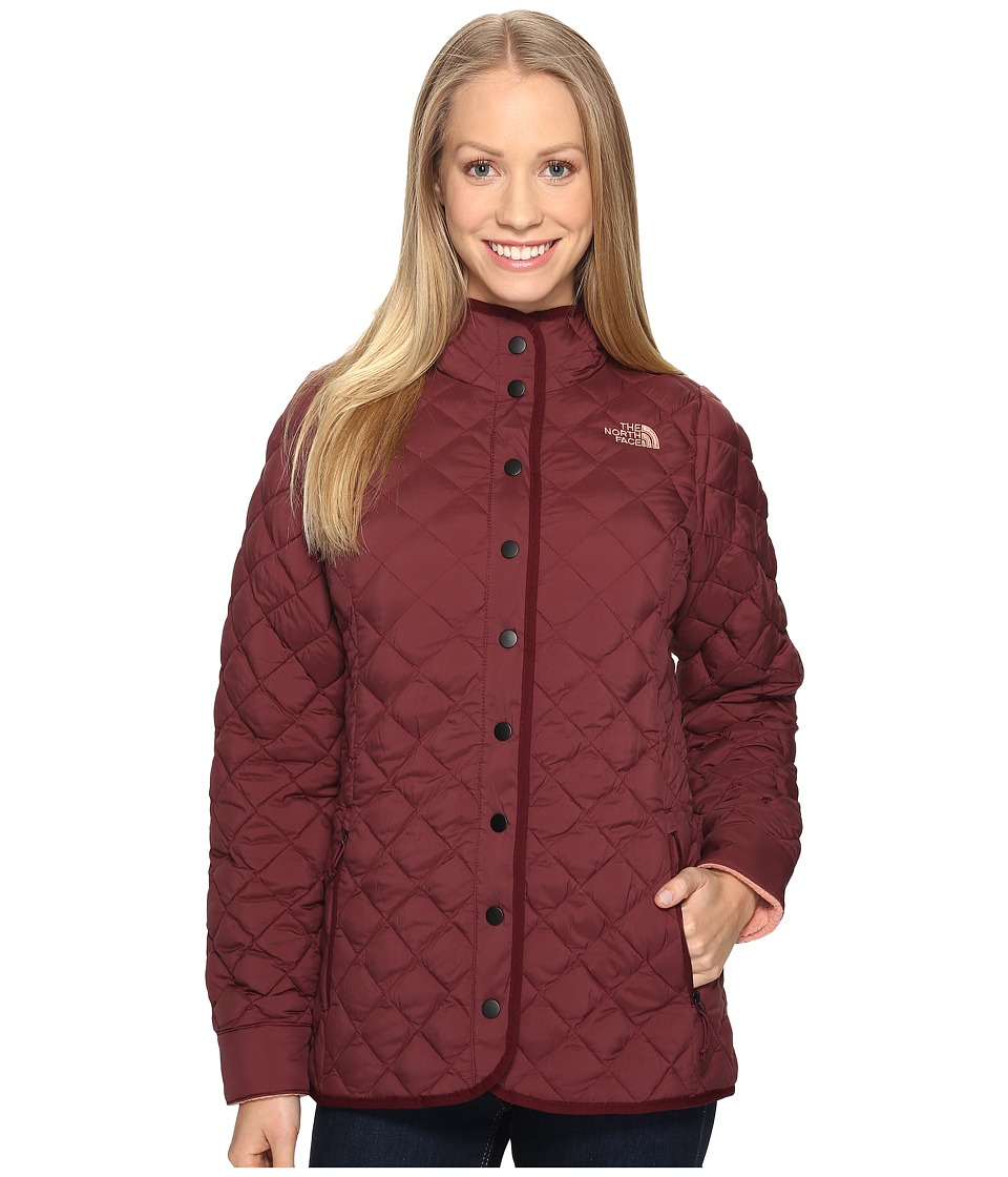 North Face ThermoBall Fur Hoodie (Deep Garnet Red (Prior ...