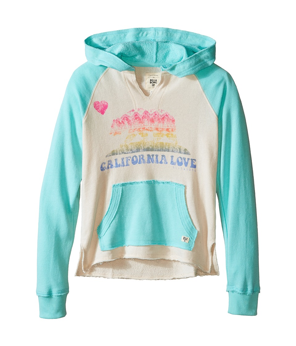 Billabong Kids Day Away Hoodie Little Kids/Big Kids Surf Blue Girls Sweatshirt