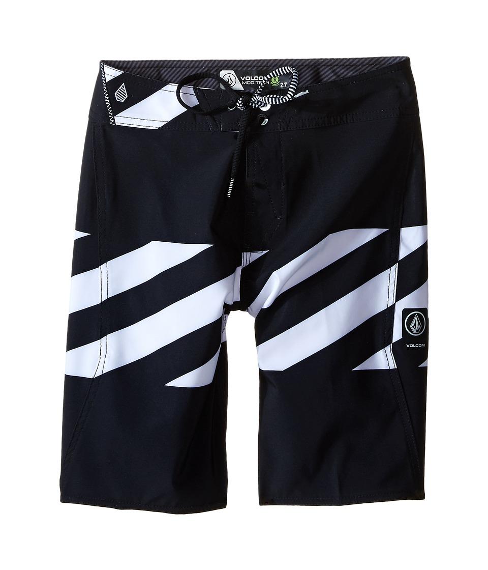 Volcom Kids Macaw Mod Boardshorts Big Kids Black Boys Swimwear
