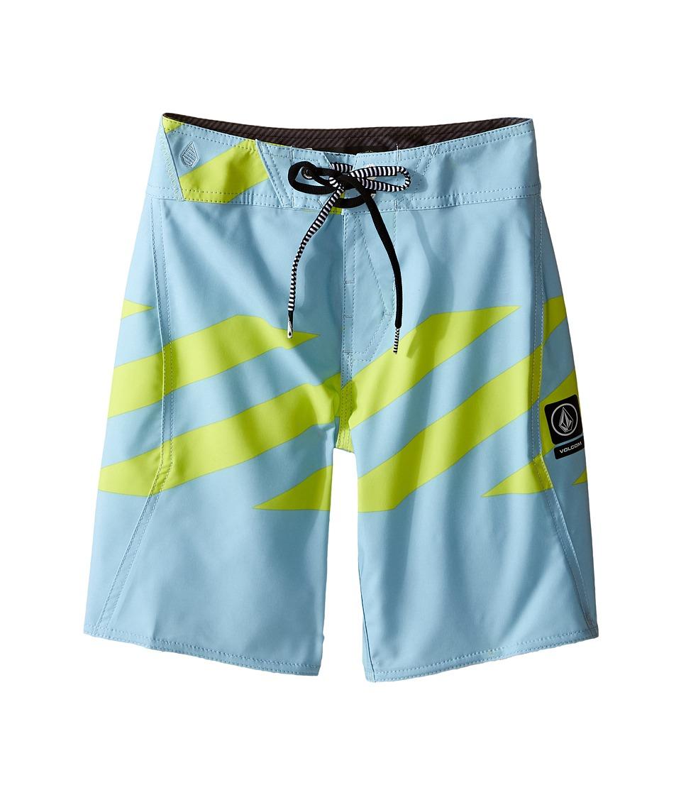 Volcom Kids Macaw Mod Boardshorts Big Kids Vintage Blue Boys Swimwear