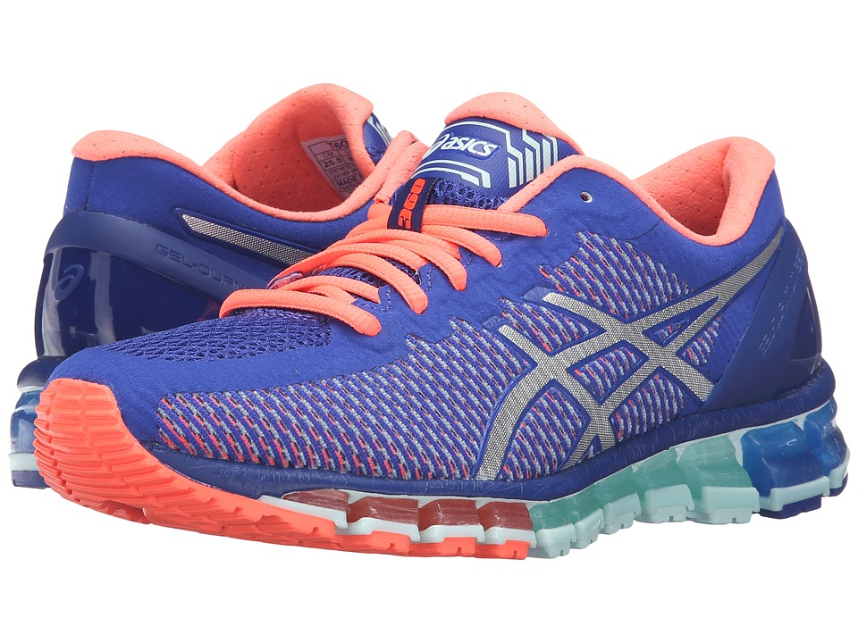 ASICS - Gel-Quantum 360 CM (Asics Blue/White/Flash Coral) Womens Running Shoes