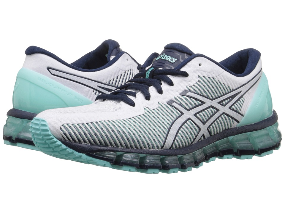 ASICS - Gel-Quantum 360 CM (Aruba Blue/White/Dark Navy) Womens Running Shoes