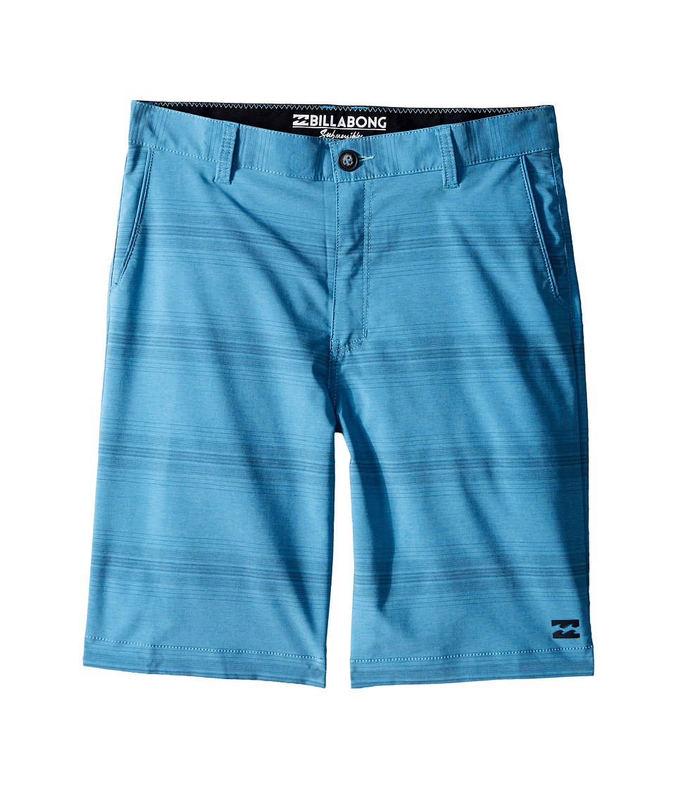 Billabong Kids Crossfire X Stripe Walkshorts Big Kids Blue Boys Shorts