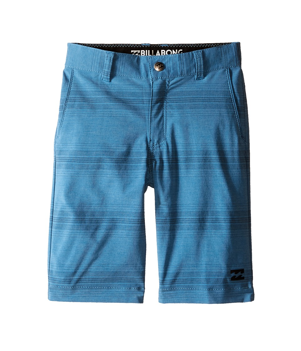 Billabong Kids Crossfire X Stripe Walkshorts Toddler/Little Kids Blue Boys Shorts