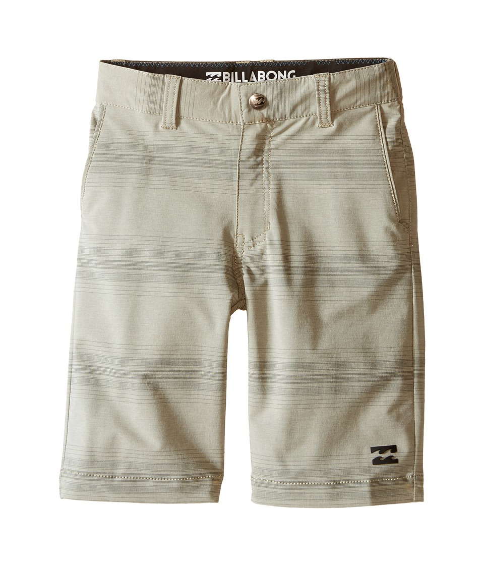 Billabong Kids Crossfire X Stripe Walkshorts Toddler/Little Kids Gravel Boys Shorts