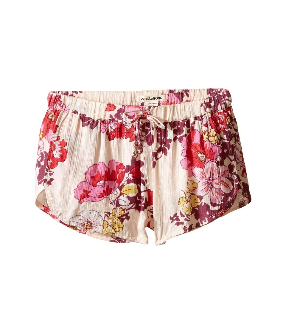 Billabong Kids Short N Sweet Printed Shorts Little Kids/Big Kids Blush Girls Shorts