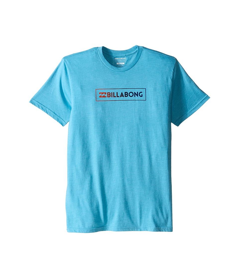 Billabong Kids - Unity Block T-Shirt (Big Kids) (Aqua Heather) Boy