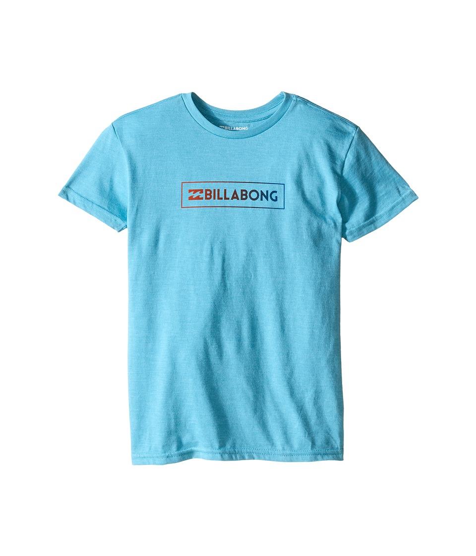 Billabong Kids - Unity Block T-Shirt (Toddler/Little Kids) (Aqua Heather) Boy