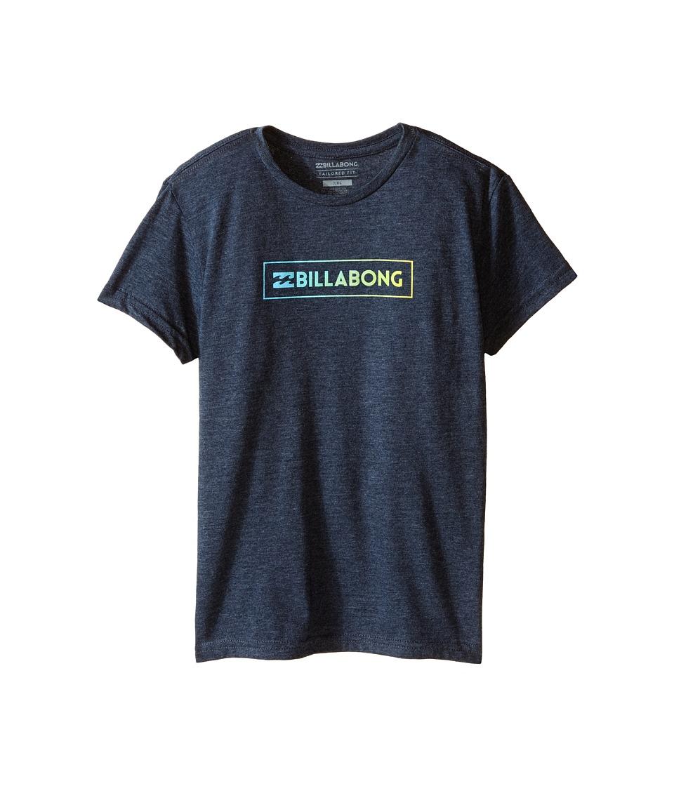 Billabong Kids - Unity Block T-Shirt (Toddler/Little Kids) (Indigo Heather) Boy